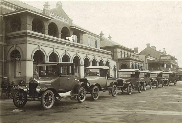 New cars for HJ Courts Showrooms 1926 Beardy St Armidale