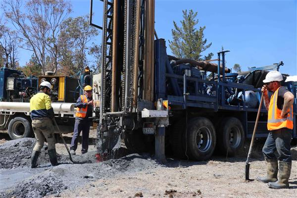 Test drilling Armidale