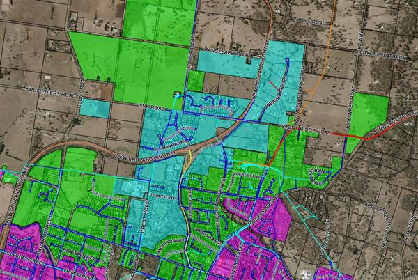 Map - Armidale areas affected by water pump lightning damage