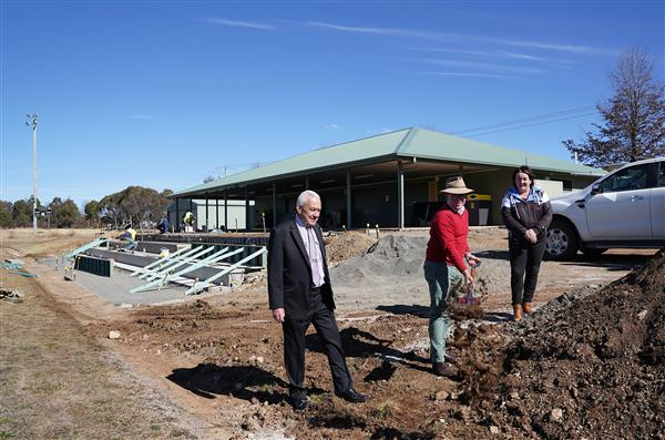 Guyra grandstand sod turn July 2020