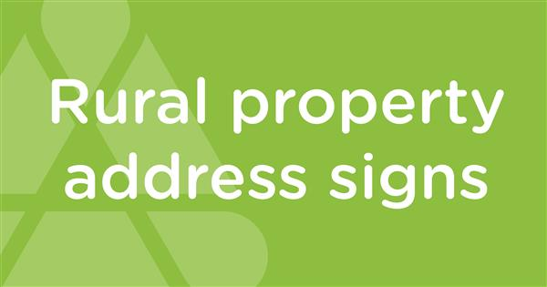 rural property address signs
