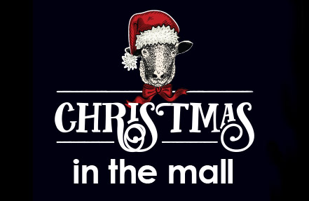 Christmas in the Mall graphic for events calendar