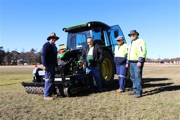 Agrivator at Newling Oval crop