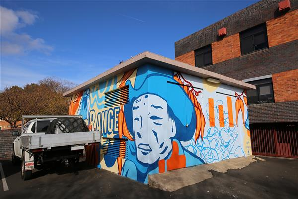 The power of public art transforms bland storage shed into a street art masterpiece